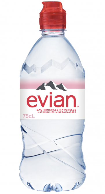 Evian, Sportscap 75cl PET