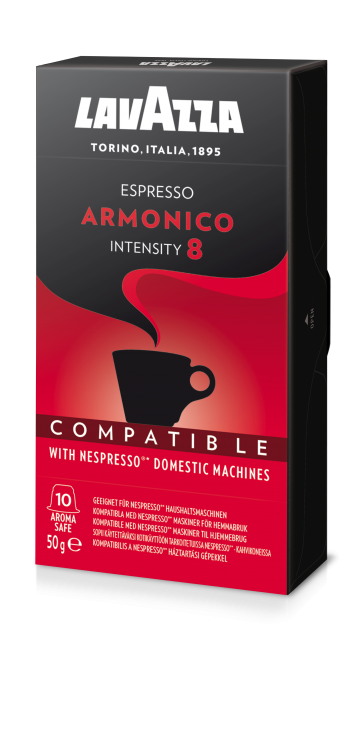 Lavazza Armonico, 10 Capsules Compatible with Nespresso®** Machines