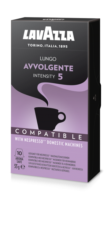 Lavazza Avvolgente, 10 Capsules Compatible with Nespresso®** Machines