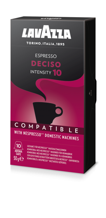 Lavazza Deciso, 10 Capsules Compatible with Nespresso®** Machines