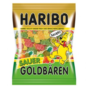 Haribo oursons d'or acid sachet 100g